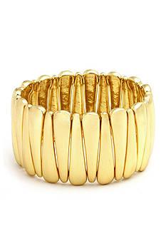 Kim Rogers Gold-Tone Pointed Stretch Bracelet