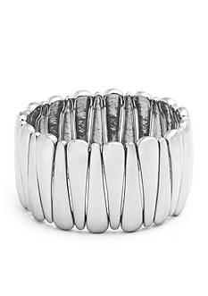 Kim Rogers Silver-Tone Point Stretch Bracelet