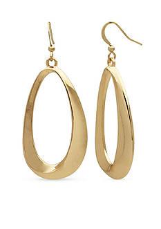 Kim Rogers Gold-Tone Sensitive Skin Wavy Teardrop Earrings