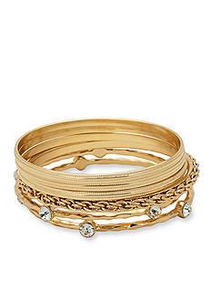 Kim Rogers Gold-Tone Bangle Bracelet Boxed Set