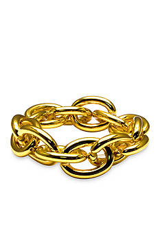 Kim Rogers Gold-Tone Linked Up Stretch Bracelet