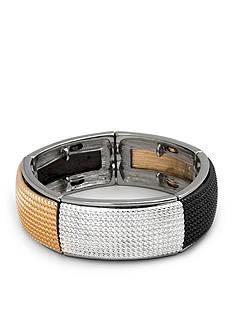 Kim Rogers Tri-Tone Stippled Stretch Bracelet
