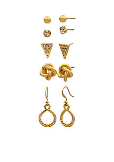 Kim Rogers Gold-Tone 5-Piece Earrings Boxed Set