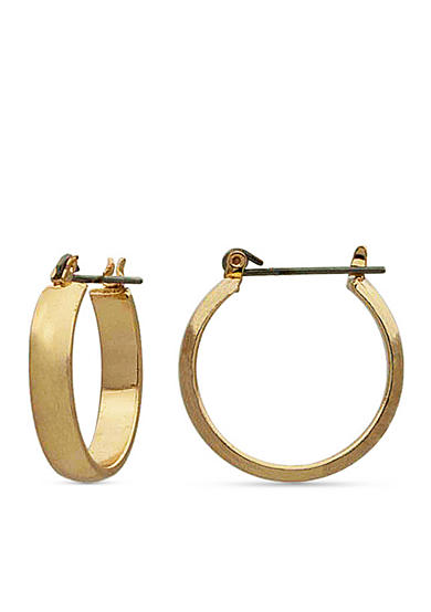 Kim Rogers® Gold-Tone Hoop Earrings