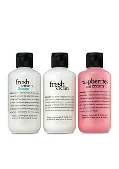 philosophy fresh cream & mint shower gel trio