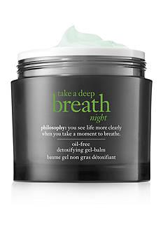philosophy take a deep breath night oil-free detoxifying mask