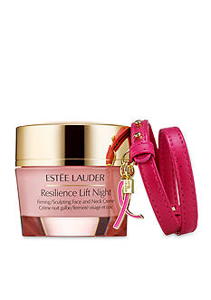 Estée Lauder Resilience Lift Night Firming/Sculpting Creme with Pink Ribbon Bracelet