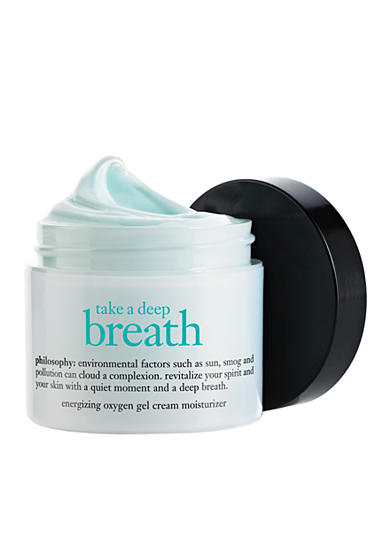 philosophy take a deep breath energizing oxygen gel cream moisturizer
