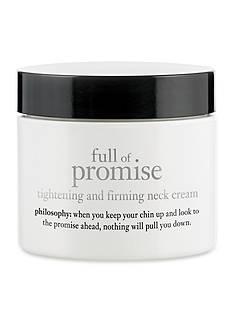 philosophy full of promise neck cream