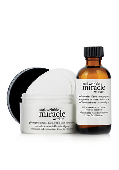 philosophy anti-wrinkle miracle worker - miraculous anti-wrinkle retinoid pads and solution