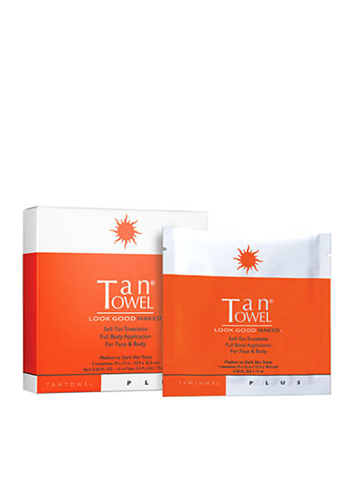 TanTowel® Full Body Plus 5 Pack Self-Tanning Towelettes