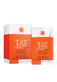 TanTowel® Half Body Plus 10 Pack Self-Tanning Towelettes