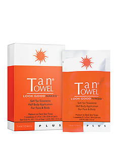TanTowel&reg; Half Body Plus Self-Tanning 5 Pack Towelettes<br>