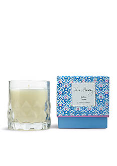 Vera Bradley Cotton Flower Candle in Glass