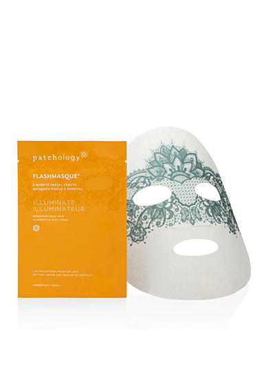 patchology® FlashMasque 5 Minute Facial Sheets Illuminate Touch of Lace-Single Pack