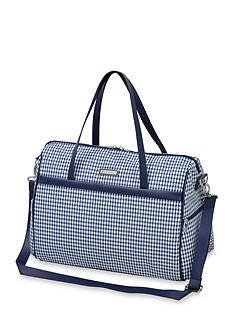 London Fog Hampton 260HL Luggage Collection Navy Gingham Check