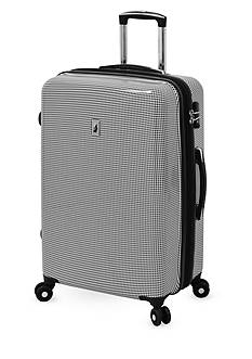 London Fog Cambridge Hardside Luggage Collection Black Houndstooth