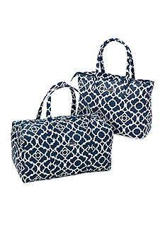 Waverly® Necessities Tote / Duffel - Navy Lattice