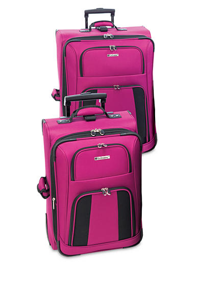 Leisure Feather Lite Luggage Collection- Raspberry