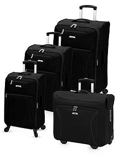 Leisure Vector FeatherLight Spinner Luggage Collection - Black