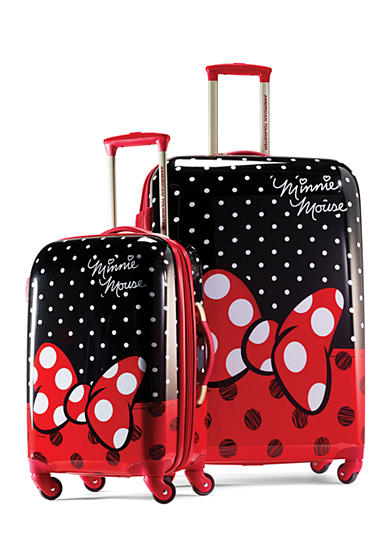 American Tourister Disney Minnie Mouse Red Bow Hardside Spinner Set