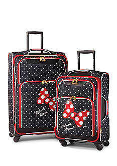 American Tourister Disney Minnie Mouse Red Bow Softside Spinner Set