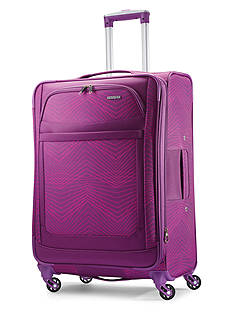 American Tourister Ilite Max Medium Spinner -Pink/Purple Stripes