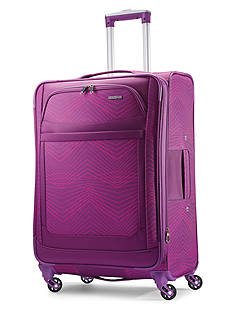American Tourister Ilite Max Large Spinner -Pink/Purple Stripes