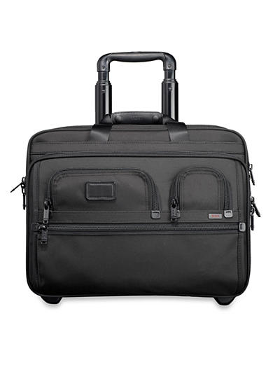 Tumi Alpha Deluxe Wheeled Brief with Laptop Case