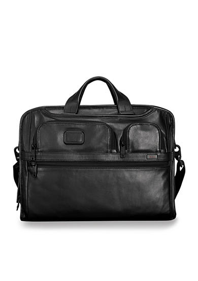 Tumi Alpha 2 Compact Large Screen Laptop Leather Brief