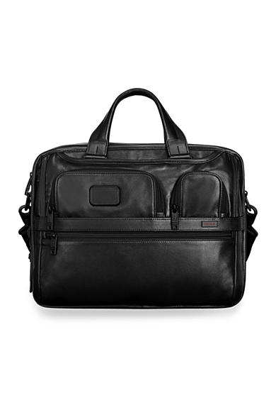 Tumi Alpha 2 Expandable Organizer Laptop Leather Brief