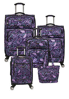 Ricardo Mar Vista Spinner Luggage Collection -  Purple Paisley