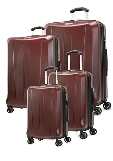Ricardo San Clemente Hardside Spinner Luggage Collection - Red