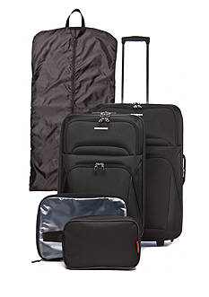 Ciao Masc 5 Piece Luggage Set - Black