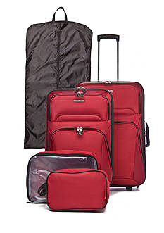 Ciao Masc 5 Piece Luggage Set - Red