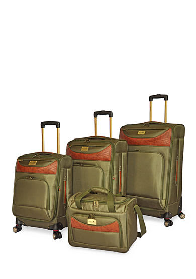 Caribbean Joe Castaway Luggage Collection Olive - Online Only