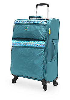 Lucas Solid Color with Print Stripe Ultra-Light 20-in. Spinner in Teal