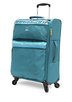 Lucas Solid Color with Print Stripe Ultra-Light 24-in. Spinner in Teal