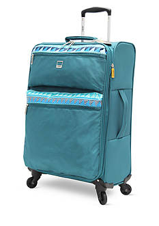 Lucas Solid Color with Print Stripe Ultra-Light 28-in. Spinner in Teal
