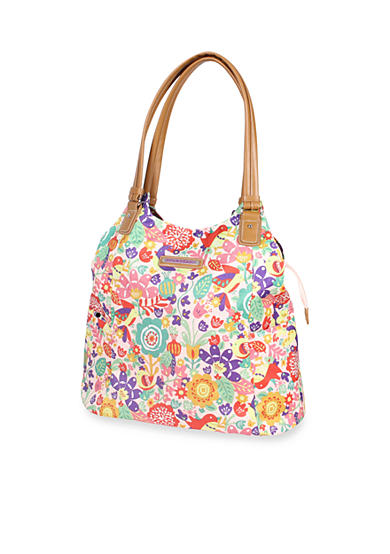 Lily Bloom Tulips & Tweets Printed Shopper Tote