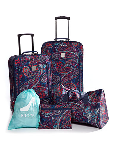 New Directions® 5-Piece Luggage Set - Blue Paisley
