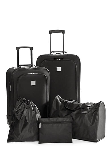 New Directions® 5-Piece Luggage Set - Black