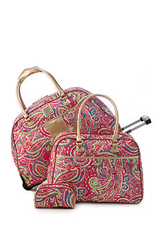 New Directions® 3-Piece Pink Paisley Luggage Set