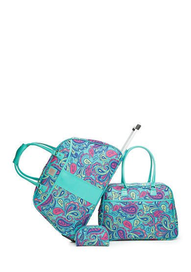 New Directions® 3-Piece Luggage Set - Turquoise Paisley