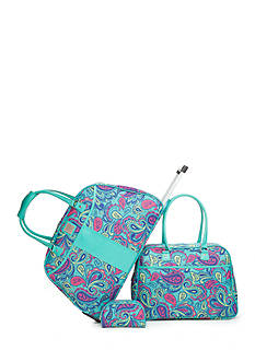 New Directions 3-Piece Luggage Set - Turquoise Paisley