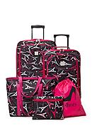 New Directions® 5-Piece Pink Paris Luggage Set