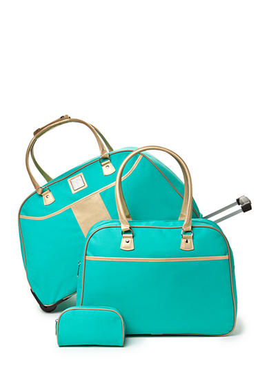 New Directions® 3-Piece Aqua Gold Luggage Set