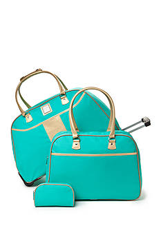 New Directions 3-Piece Aqua Gold Luggage Set