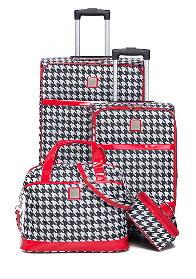 New Directions® Jet Set Spinner 4-Piece Houndstooth Luggage Set