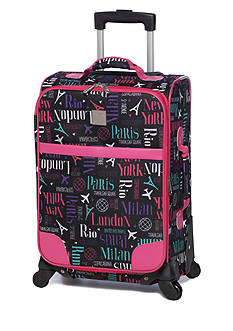 New Directions® I Fly Free City Print Pink Trim